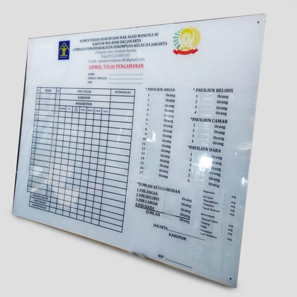 Papan Informasi Sign Acrylic S18 - 1