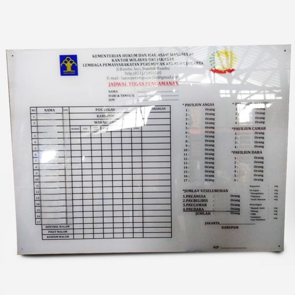 Papan Informasi Sign Acrylic S18 - 2