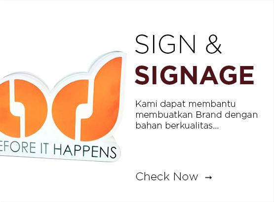 huruf timbul dan sign