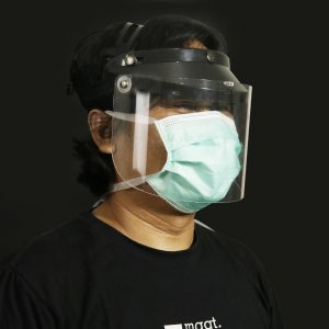 face shield hitam