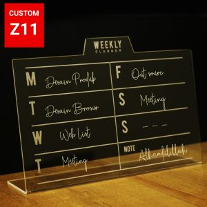 weekly planner acrylic z11